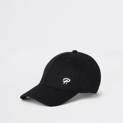 Black 'Prolific' Wasp Embroidery Baseball Cap by River Island