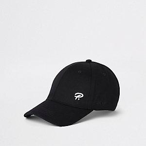 Zwarte baseballpet met 'Prolific'-print en geborduurde wesp