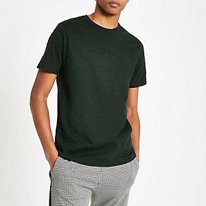 T-shirt slim «Maison Riviera» vert