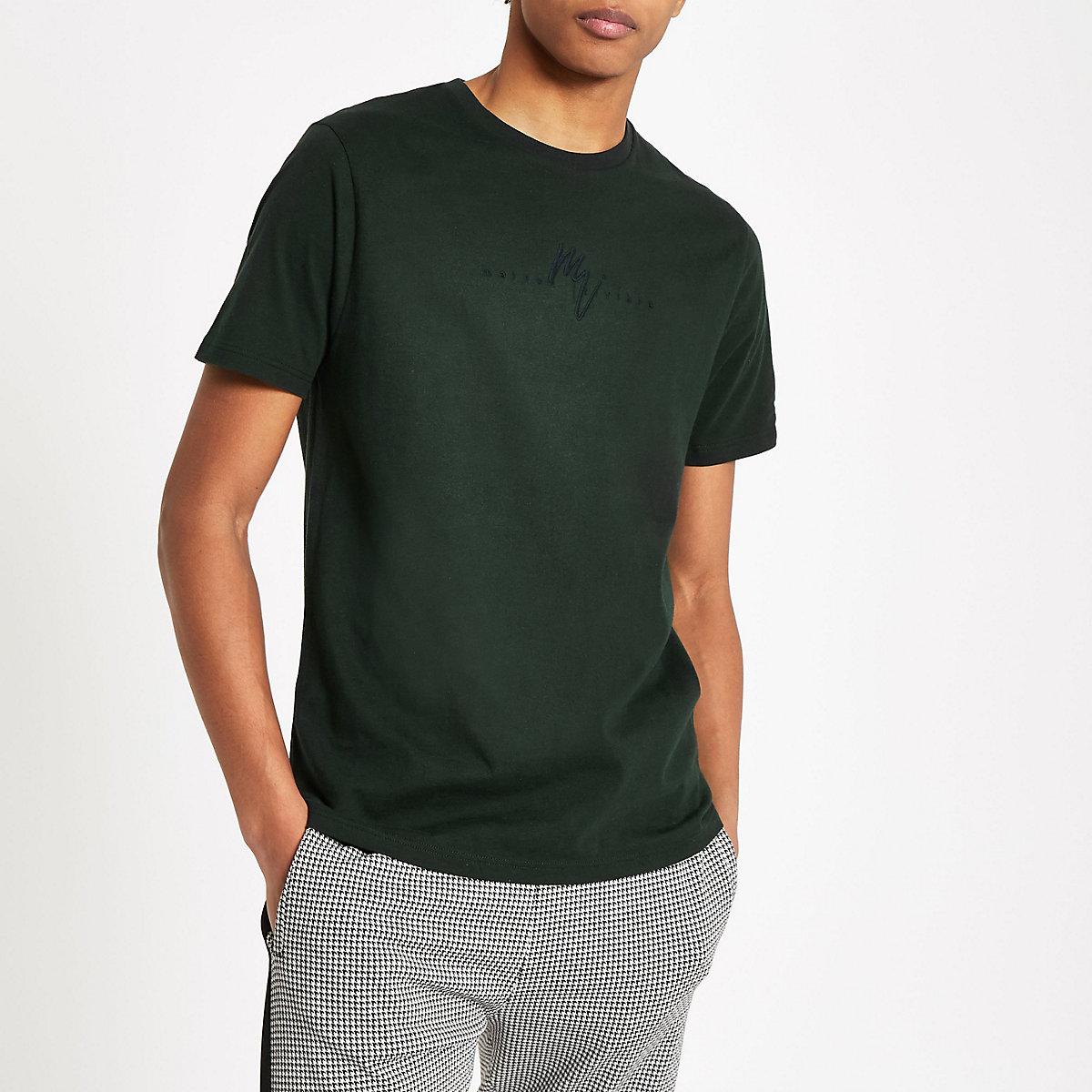 Green 'Maison Riviera' slim fit T-shirt