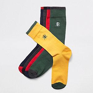 Rote Socken im Set