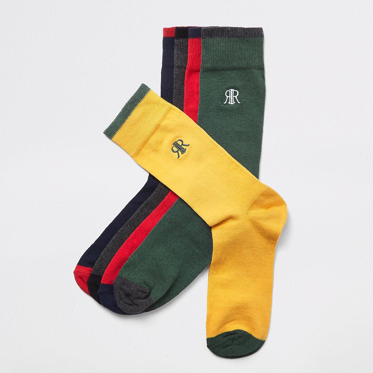 Red RI multicolored socks multipack