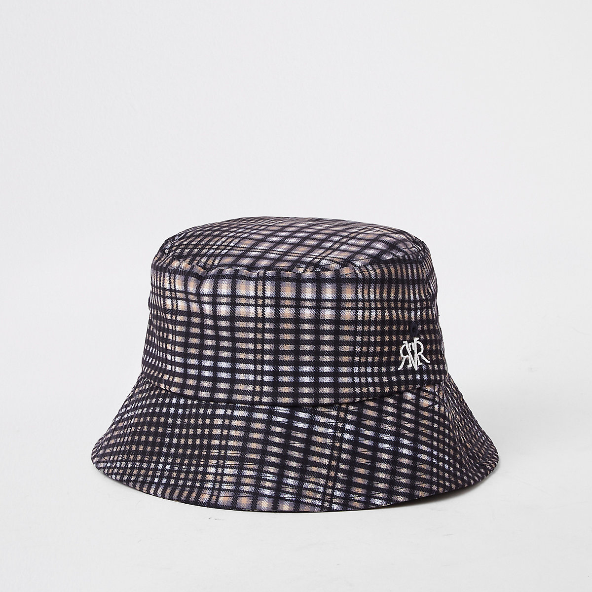 2ce02ce0f65 RIVER ISLAND. Grey check bucket hat – £15