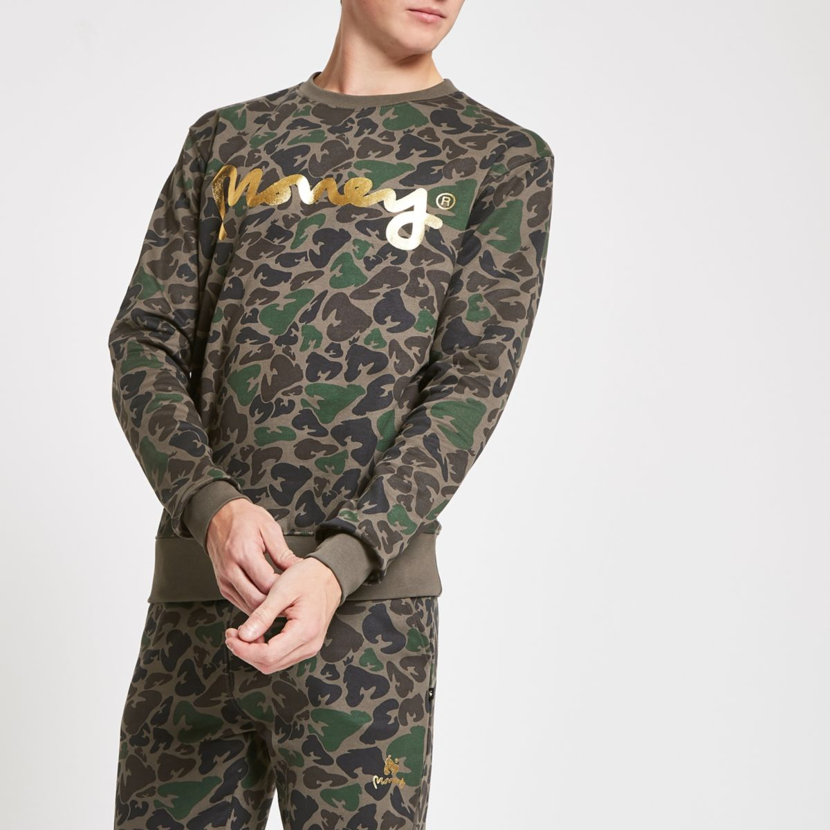 Money Clothing dark brown camo sweatshirt
