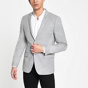 Grey skinny fit blazer