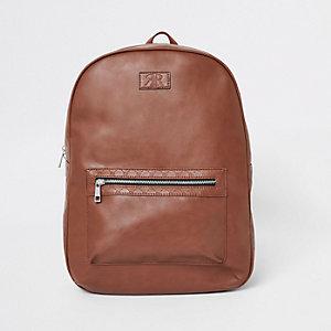 Light brown RI monogram trim rucksack