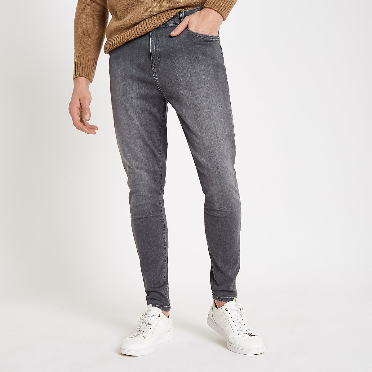 Monkee Genes grey super skinny jeans