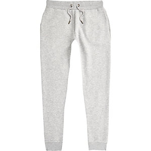Pantalon de jogging slim gris chiné