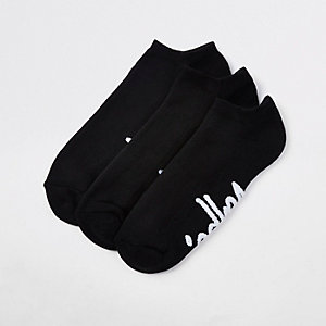 Hype – Schwarze Sneakersocken, 3er-Pack
