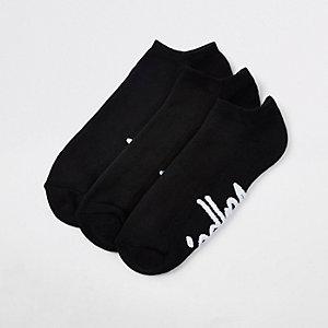 Hype - 3 paar zwarte sportsokken