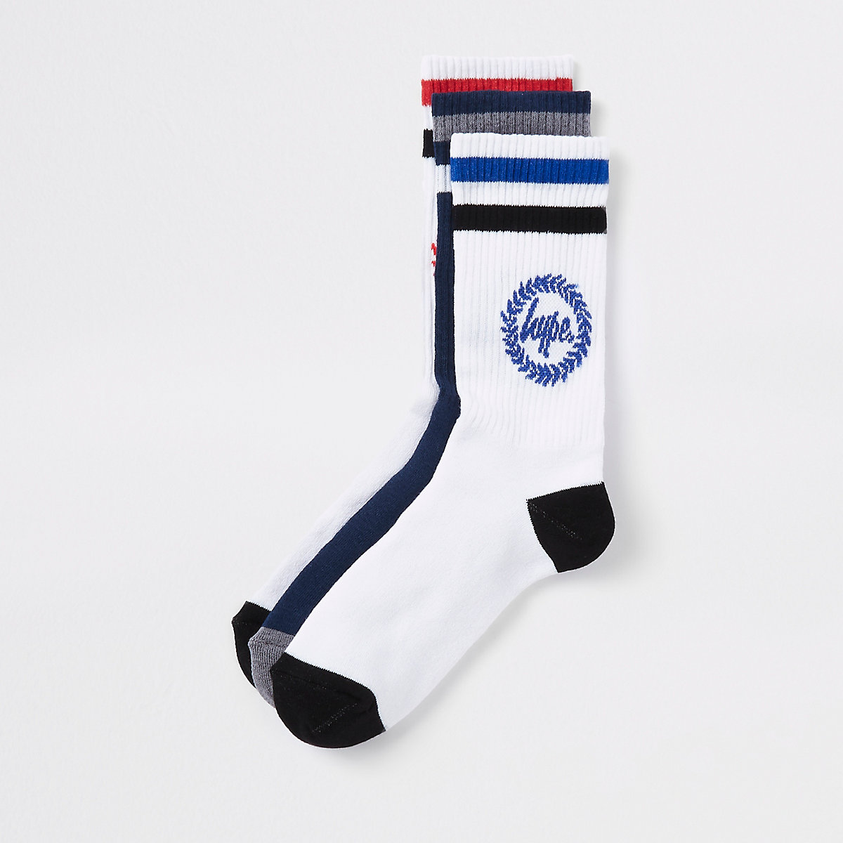 Hype navy crest print socks 5 pack