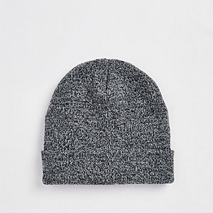 Grey slouch beanie hat