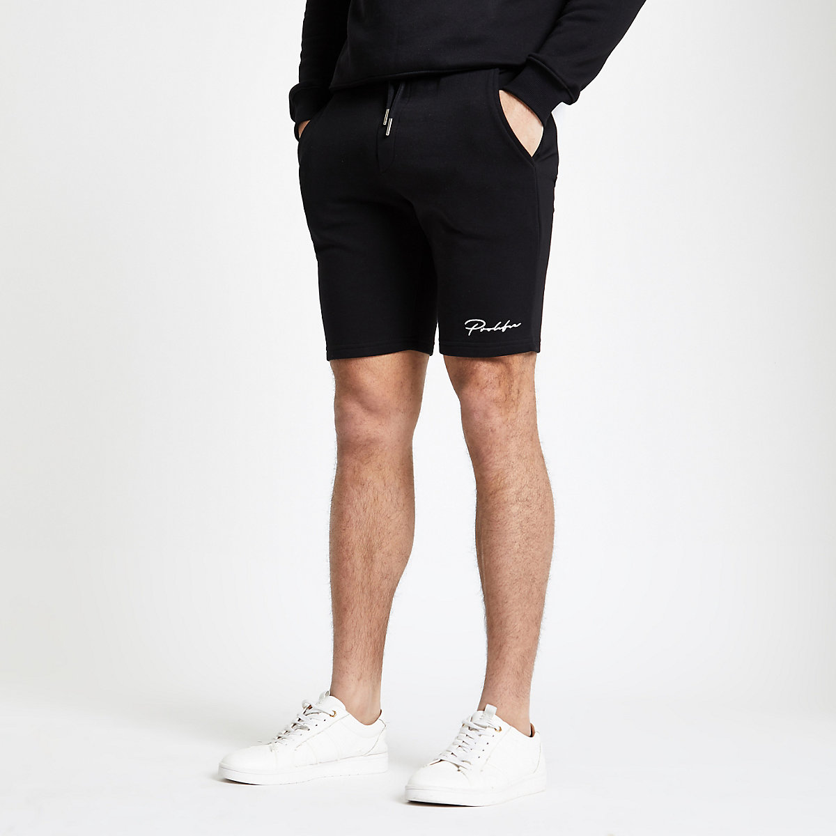 Short en jersey slim à inscription « Prolific » noir