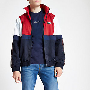 Navy 'Prolific' colour block track top