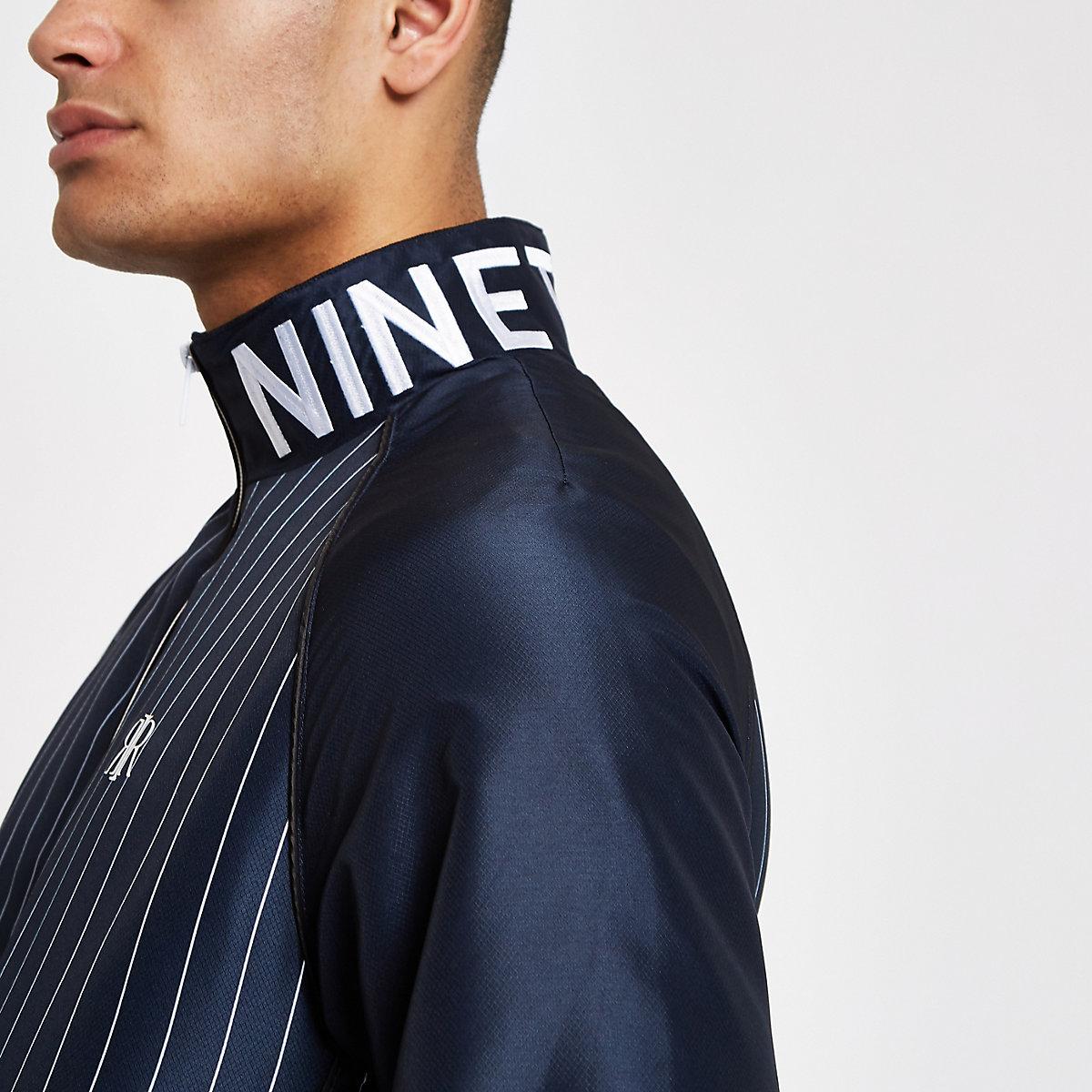 Navy stripe track jacket