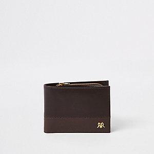 Braune Geldbörse aus Leder