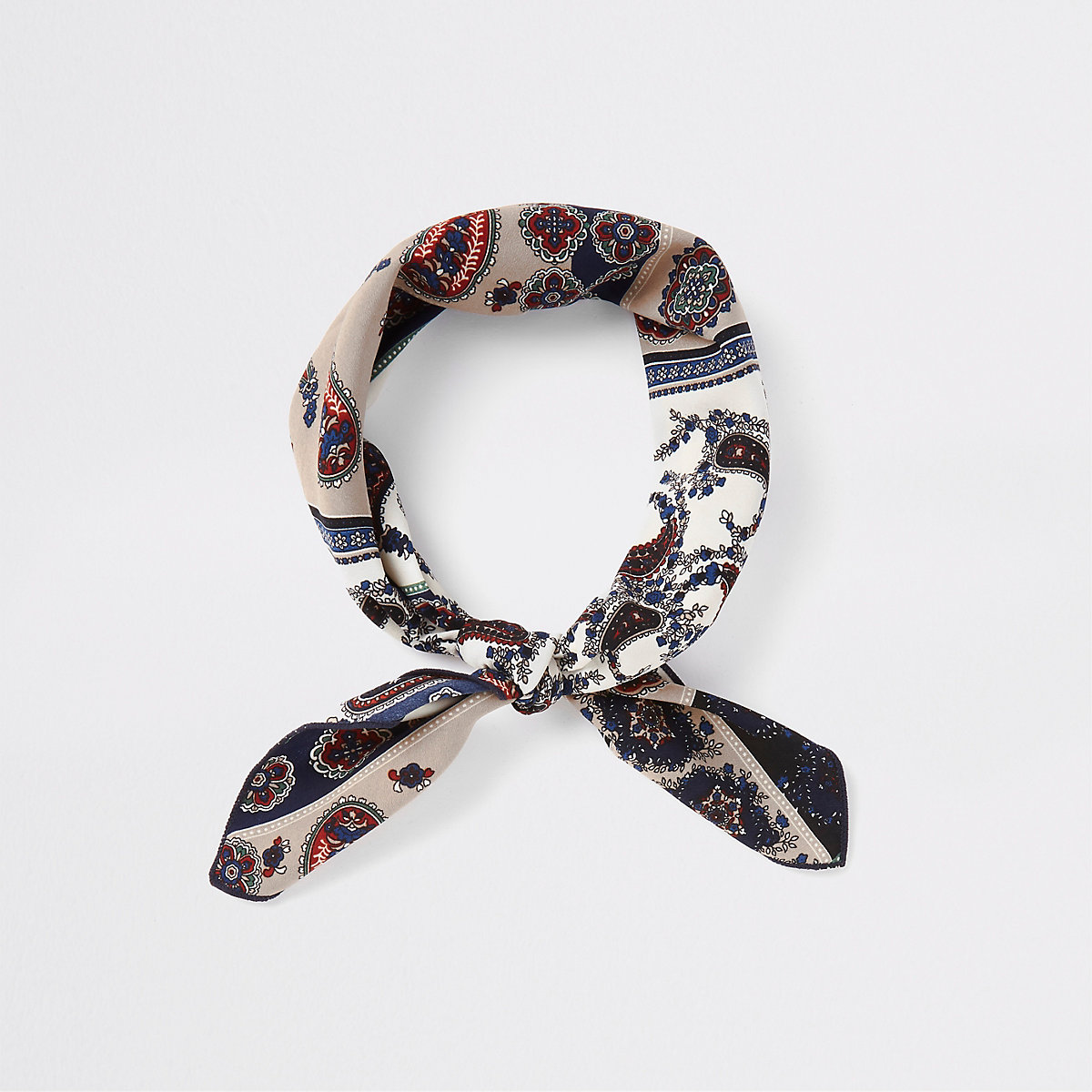 Navy and cream bandana