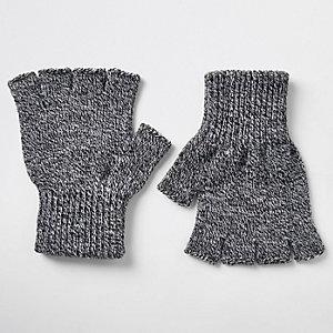 Graue Handschuhe ohne Finger