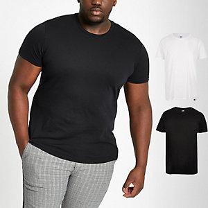 Lee - Big and Tall - Set met 2 T-shirts in verschillende kleuren