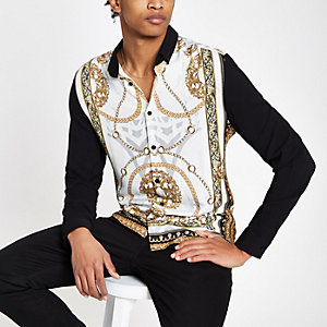 Langarmhemd mit Barockprint