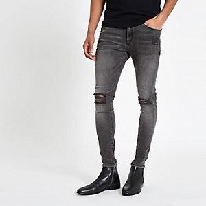 Ollie – Jean seconde peau noir déchiré au genou