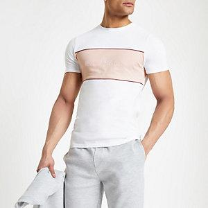 T-shirt ajusté «Maison Riviera» blanc