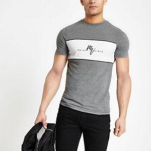 Grijs aansluitend T-shirt met 'Maison Riviera'-print