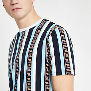 Blue stripe slim fit T-shirt
