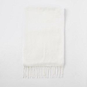 Witte geweven sjaal
