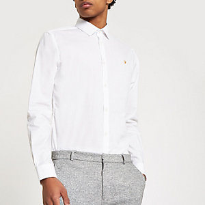 Farah white button down shirt