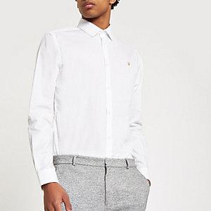 Farah – Weißes Button-Down-Hemd
