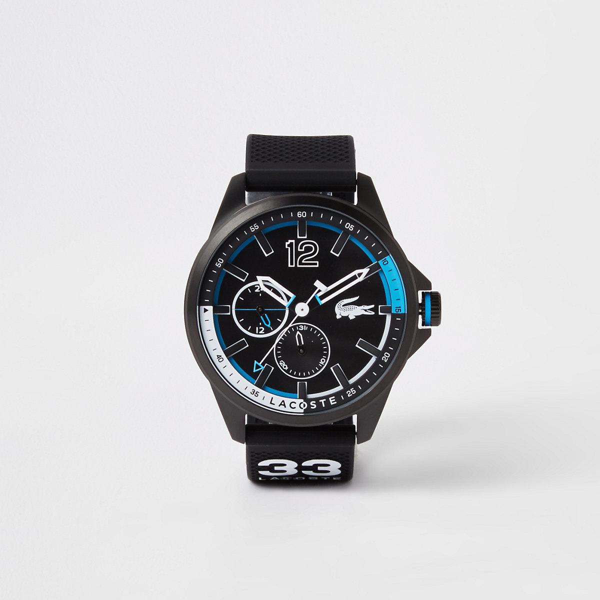 Lacoste black Capbreton watch