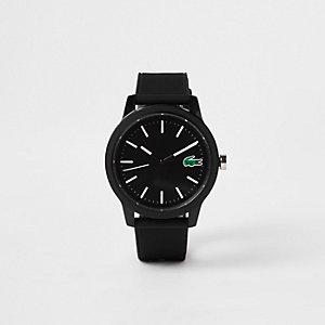 Lacoste – Montre noire à bracelet en silicone 12.12