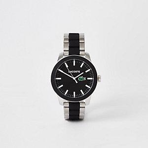 Lacoste – Graue Armbanduhr aus zwei Materialien 12.12