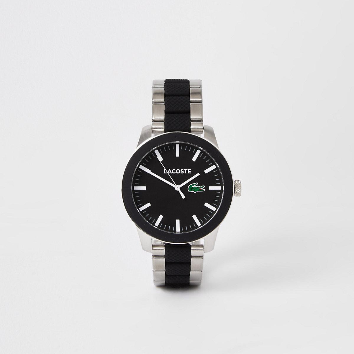 Lacoste grey 12.12 bi-material bracelet watch