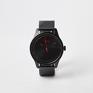 Hugo Boss – Schwarze Armbanduhr aus Edelstahl