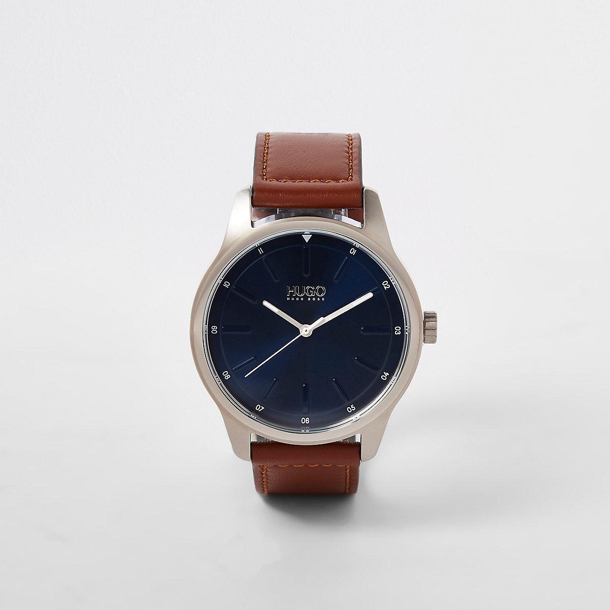 Hugo Dare brown stainless steel watch