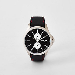 Hugo Boss Jump black two dials steel watch