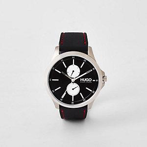 Hugo Jump - Zwart stalen horloge met twee wijzerplaten