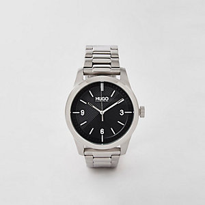 Hugo Create grey stainless steel watch