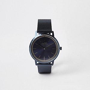 Hugo Boss Exist armbandhorloge met blauwe mesh