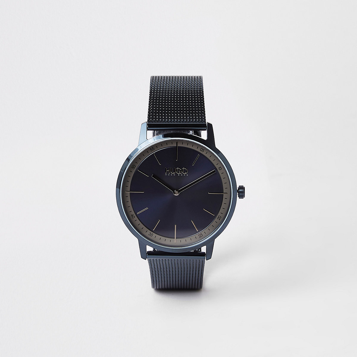 Hugo Boss Exist blue mesh bracelet watch