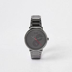 Hugo Boss – Graue Armbanduhr aus beschichtetem Edelstahl