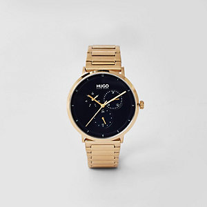 Hugo Boss gold stainless steel watch