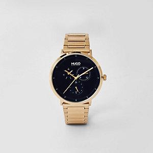 Hugo - Goudkleurig roestvrijstalen horloge