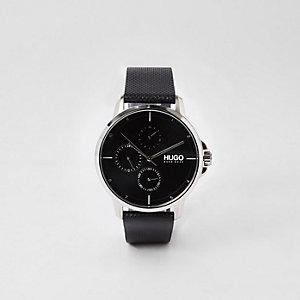 Hugo – Focus – Montre en acier inoxydable noire