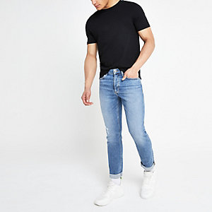 Mid blue Dyaln slim fit jeans