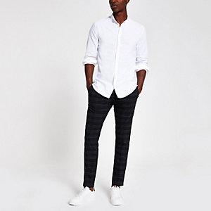 Wit Oxford opa-overhemd met geborduurde wesp