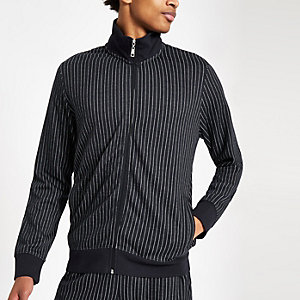 Criminal Damage navy pinstripe track top