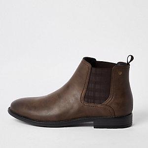 Dark brown chelsea boots